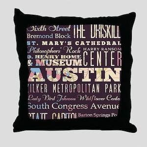Austin Texas Throw Pillow