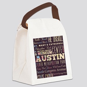 Austin Texas Canvas Lunch Bag
