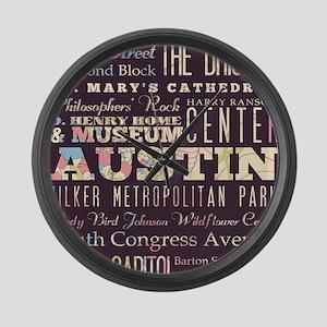 Austin Texas Large Wall Clock
