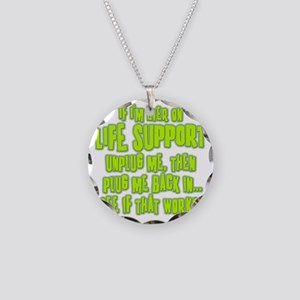 Life Support Necklace Circle Charm
