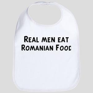 Men eat Romanian Food Bib