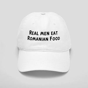 Men eat Romanian Food Cap