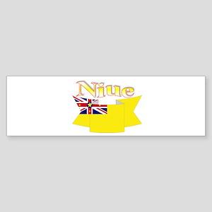 Niue ribbon flag Bumper Sticker