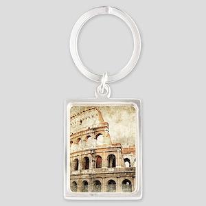 Vintage Roman Coloseum Portrait Keychain