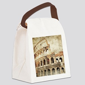 Vintage Roman Coloseum Canvas Lunch Bag