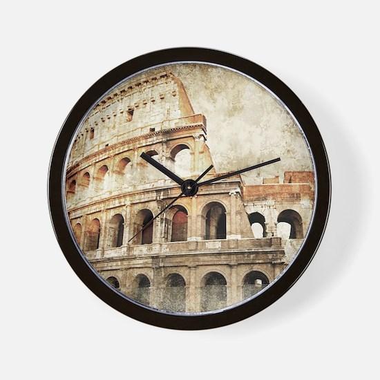 Vintage Roman Coloseum Wall Clock
