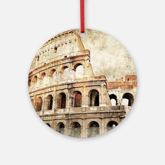 Vintage Roman Coloseum Round Ornament