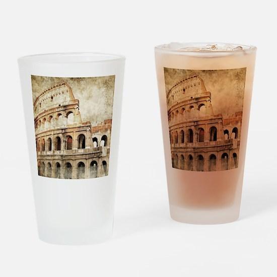 Vintage Roman Coloseum Drinking Glass