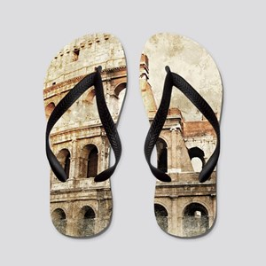 416385a65aac6 Vintage Roman Coloseum Flip Flops