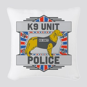 Custom Golden Retriever K9 Unit Police Woven Throw