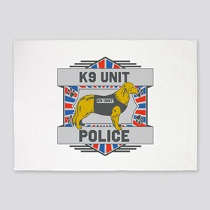 Custom Golden Retriever K9 Unit Police 5'X7'area R