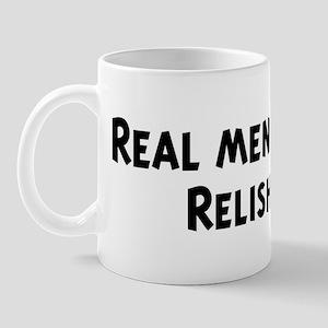 Men eat Relish Mug