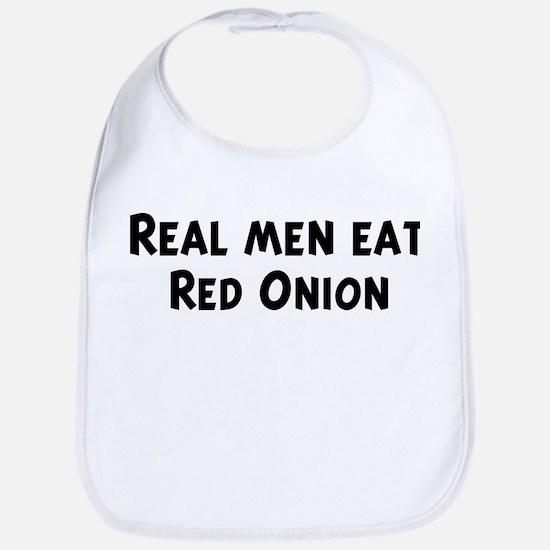 Men eat Red Onion Bib