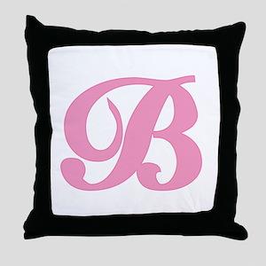 B Initial Throw Pillow