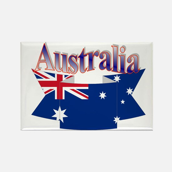Aussie flag ribbon Rectangle Magnet