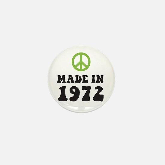 Made In 1972 Peace Symbol Mini Button