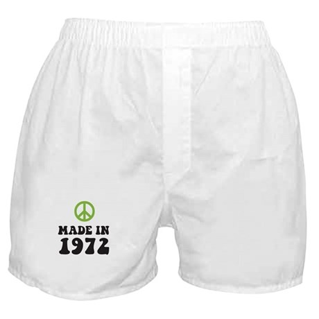 Made In 1972 Peace Symbol Boxer Shorts