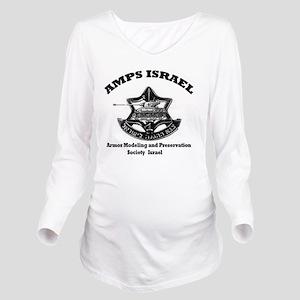 amps israel logo Long Sleeve Maternity T-Shirt