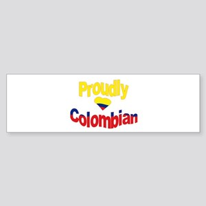 Proudly Colombian Bumper Sticker
