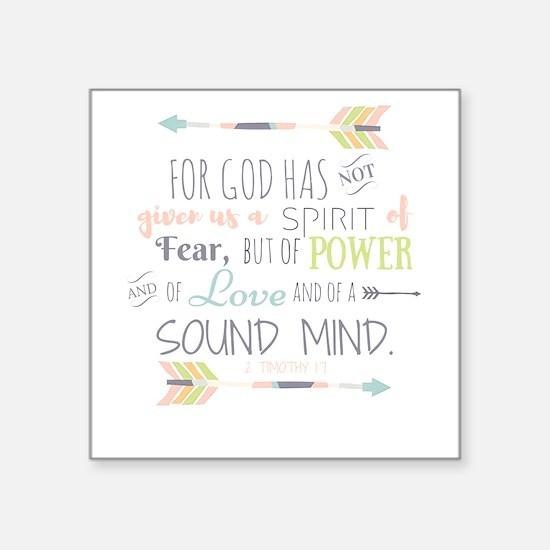 2 Timothy 1:7 Bible Verse Sticker