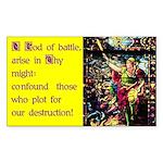 O God of battle sticker
