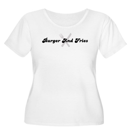 Burger And Fries (fork and kn Women's Plus Size Sc
