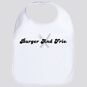 Burger And Fries (fork and kn Bib