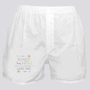 2 Timothy 1:7 Bible Verse Boxer Shorts