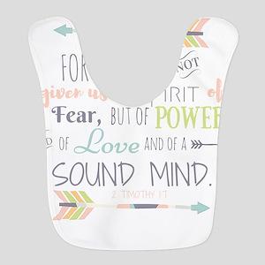 2 Timothy 1:7 Bible Verse Polyester Baby Bib