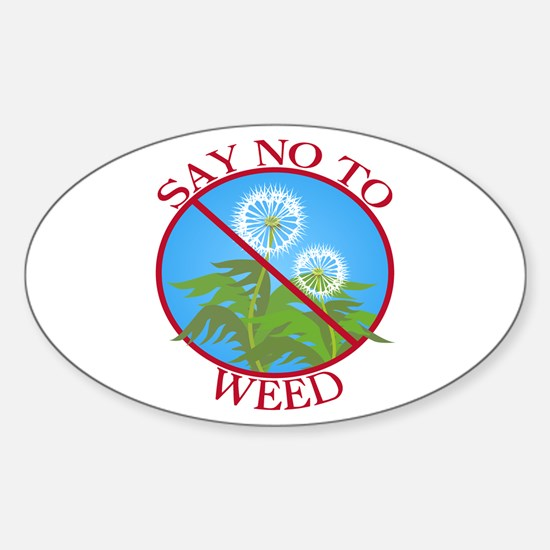 Say No To Weed Dandelion Oval Decal