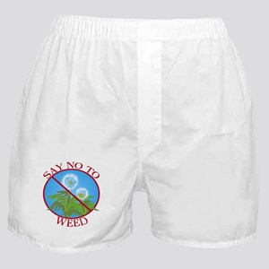 Say No To Weed Dandelion Boxer Shorts