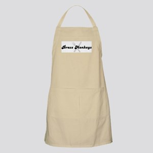 Brass Monkeys (fork and knife BBQ Apron