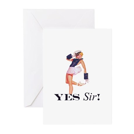 Yes Sir! Sailor Girl Greeting Cards (Pk of 10)