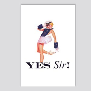 Yes Sir! Sailor Girl Postcards (Package of 8)