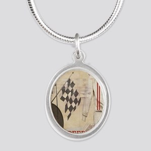 Speedway Silver Oval Necklace
