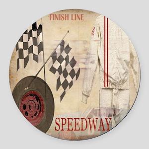 Speedway Round Car Magnet