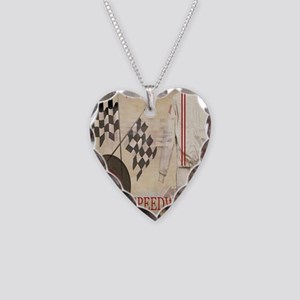 Speedway Necklace Heart Charm