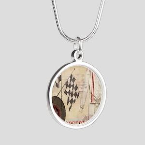 Speedway Silver Round Necklace