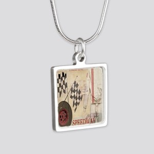 Speedway Silver Square Necklace