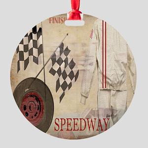 Speedway Round Ornament