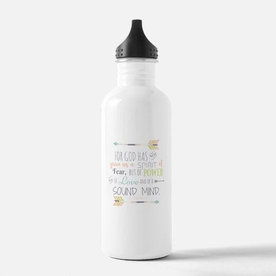 2 Timothy 1:7 Bible Ve Water Bottle