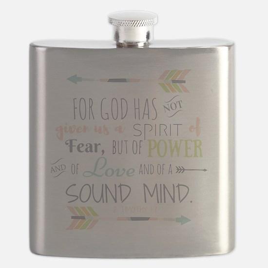 2 Timothy 1:7 Bible Verse Flask