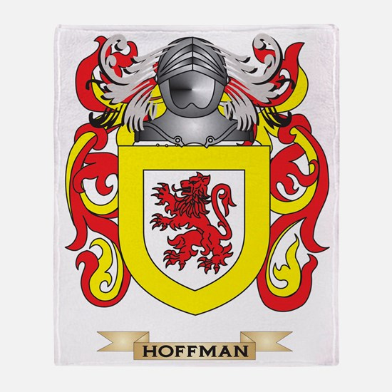 Hoffman Coat of Arms (Family Crest) Throw Blanket