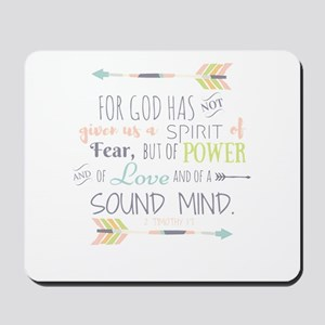 2 Timothy 1:7 Bible Verse Mousepad
