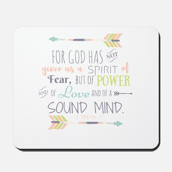 2 Timothy 1:7 Bible Verse Mousepad