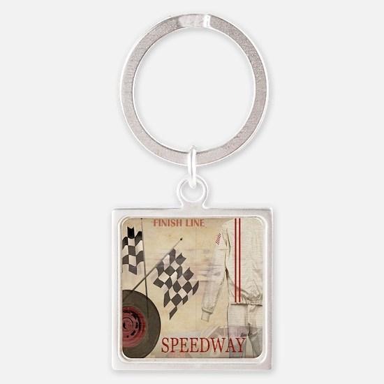 Speedway Square Keychain