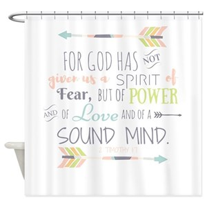 Bible Verse Shower Curtains