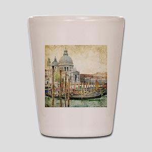 Vintage Venice Photo Shot Glass