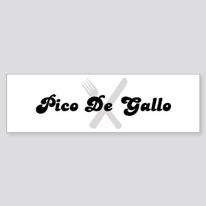Pico De Gallo (fork and knife Bumper Sticker