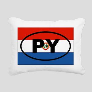 Paraguay PY Rectangular Canvas Pillow